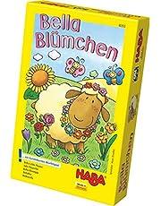 Haba 4093 – Bella Blümchen kolorowa gra w kostkę, dla 2 – 4 dzieci w wieku 3 – 6 lat, gra planszowa do nauki kolorów i symboli