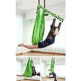 Antena Hamaca De Yoga Set Extensión con Fitness Hamaca Yoga Flex con Paño Paracaídas Daisy Chain,Green