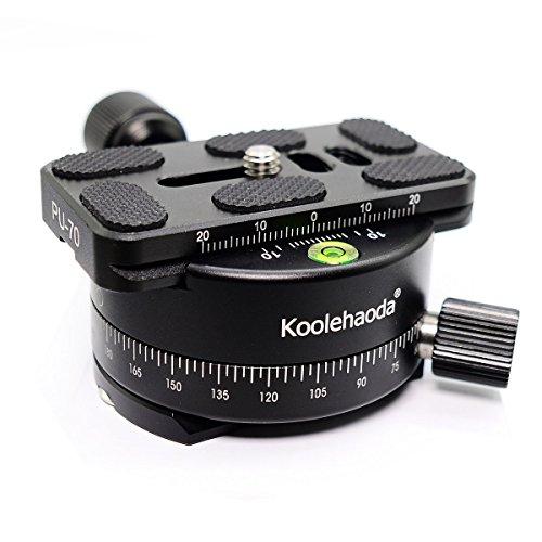 Koolehaoda Cabeza panorámica Profesional de la cámara del trípode  Soporte del cabezal de panorámica Placa universal de liberación rápida