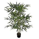 HUIJK Large Lush Artificial Bamboo Tree Indoor Tall Home House Plant in Pot