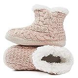 MaaMgic - Mujer Zapatillas Pantuflas Antideslizante de Invierno, como Casa Botas Extra Cálido,Pink,37/39EU