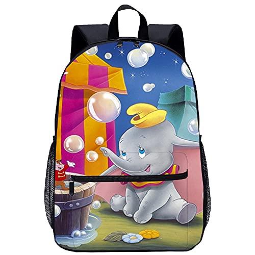 Mochila Infantil 3D mochila escolar Dumbo Adecuado para: estudiantes de primaria y secundaria, la mejor opción para viajes al aire libre Tamaño: 45x30x15 cm / 17 pulgadas Mochilas Escolares Ju