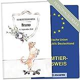 EU-Heimtierausweis Hülle Cosmo Hunde Tierausweis Schutzhülle schöne Geschenkidee personalisierbar mit Namen und Geburtsdatum (Space Loo, EU-Heimtierausweishülle personalisiert)