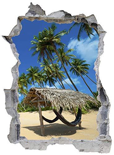 Palmen Strand Urlaub Sonne Wandtattoo Wandsticker Wandaufkleber E0322 Größe 46 cm x 62 cm