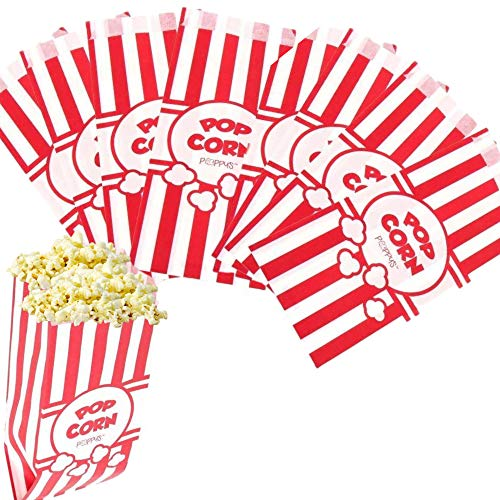Read About Poppy's Carnival Style Popcorn Bags - 1 oz Concession Grade Paper Popcorn Bags (200 Bags)