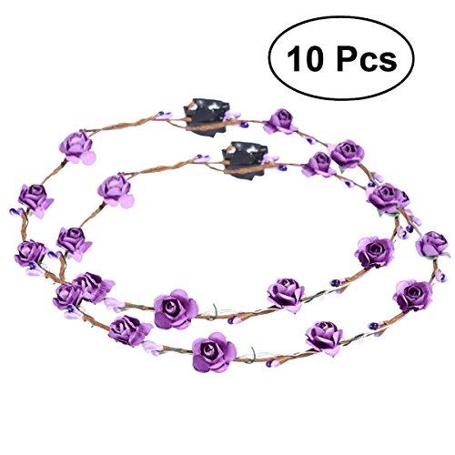 Lurrose LED bloemenkroon bloemenkrans hoofdband-gloei-slingers hoofdbanden voor festival bruiloftsfeest