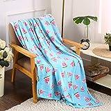 Noble House Velvet Touch Ultra Plush Throw Fleece Blanket 50'x60' (Watermelon)