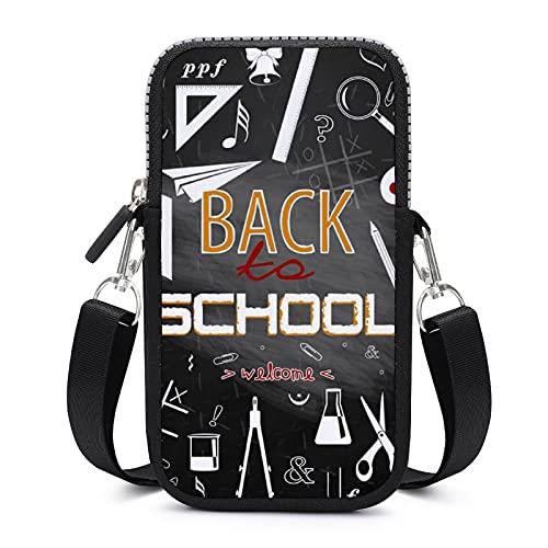 Bolso bandolera con correa extraíble para el hombro para la vuelta a las escuelas funda anticaídas para teléfono cartera de muñeca, gimnasio, fitness, unisex
