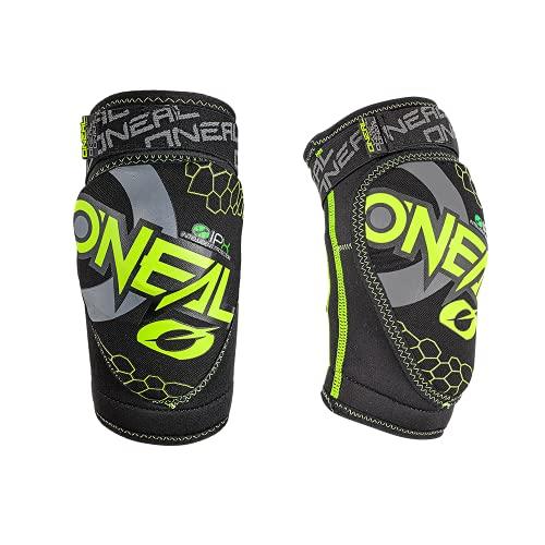 O\'NEAL | Knieprotektor | Kinder | BMX MTB Downhill | Kompakte Konstruktion, Abriebbeständiges Material, Verstellbare Velcro®-Klettbänder | Dirt Knee Guard Youth | Neon-Gelb Schwarz | Größe S/M
