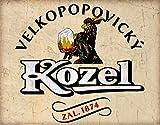 DHNMH Aluminum Signs Vintage Kozel Beer Czech Republic Wall Decoration Metal Sign Home Bar Garage Decoration Sign 8x12 Inch Cafe Wall Art Sign Gift