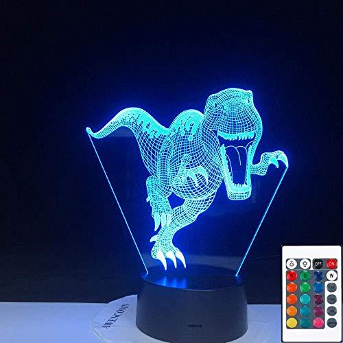 luz nocturna niños lamparas 3d DisaurDisaur Carga por USB del tacto de 7 colores del partido de la fiesta de la decoración del regalo de cumpleaños de los niños