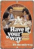 CDecor Burger King Have It Your Way Blechschilder, Metall