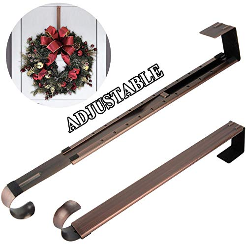 HEYHOUSE Kranzhaken, verstellbar, langer Kranz, Haken über die Tür, 36,9–63,5 cm, größere Weihnachtsdekorationen, Türkranz-Halter Casual One Size bronze