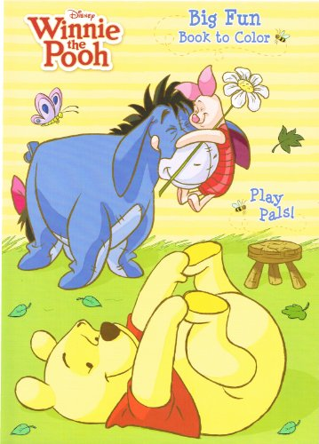 Disney Winnie the Pooh Big Fun Book to Color (Set of 2)