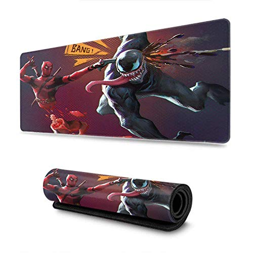 Deadpool Comics Venom Rectangle Mouse Pad Ideal for Both Gaming Mouse Mat for Gamer, Office & Home 15.7' x 35.4' inch