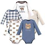 Hudson Baby Unisex Baby Cotton Long-sleeve Bodysuits, Little Bear, 6-9 Months