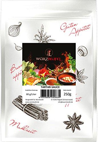Tartarsoße, Tartar - Sauce in Restaurantqualität. Vegan, Kalorienreduziert. Frei von Geschmacksverstärkern. Beutel 250g (ca. 85 Portionen)