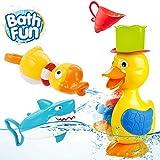 OYE HOYE Badewannenspielzeug für Babys, Ente Hai Badewannenspielzeug Hochwertiges Baby...