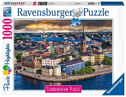 Ravensburger Puzzle, Puzzle 1000 Pezzi, Stoccolma, Puzzle per Adulti, Collezione Scandinavian Places, Puzzle Paesaggi, Puzzle Ravensburger - Stampa di Alta Qualità
