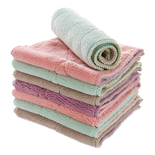 Yzdhaxa 10 stuks, wasdoeken, 27 x 14,5 cm, reinigingsdoeken, huishouddoeken, waterabsorberend, wastafel, meerkleurig met olie, wassen