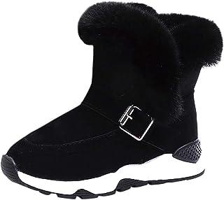 Jaysis Bottes Neige Fille Gar/çon Bottine Fourrees Hiver Chaud Bottes Ski Fourre Bottes Neige Enfant Kids Unisexe Bottine Fourre Fur Bottes Chaudes Boot Bottes Pas Cher