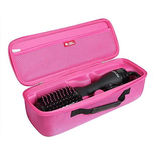 Hermitshell - Funda de viaje para secador de pelo de un solo paso y cepillo de aire caliente de Revlon (rojo ciruela)