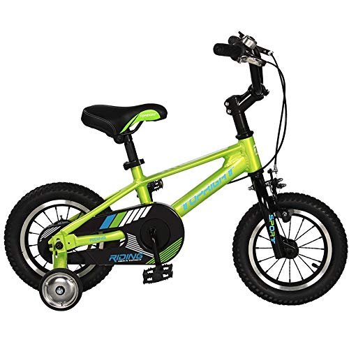 XBSLJ Kids' Bikes, Children Bicycle Bike for Ages 2 to 10 Years ndash; Best Sport Bicycle Boys Girls ndash; Kids Skip Tricycles on The Lightest First Bike for Newborn (Color : Green, Size : 18