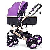 LYP Triciclo Bebé Trolley Trike 3 en 1 sillas de Ruedas Cochecito de niño Cochecito para niños Cochecito de Cochecito de Cochecito de bebé Sistema de Viaje Ajustable con Ruedas (Color : #6)