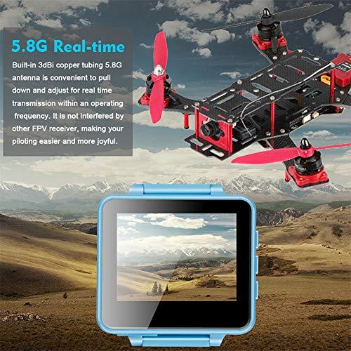 elegantstunning Hz FPV Wearable Watch DVR Monitor Receptor OSD Soporte AV-in para FPV RC Drone Emisor