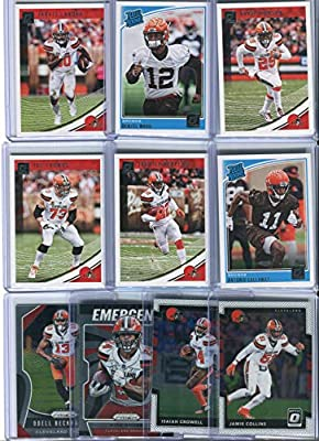 Cleveland Browns Assorted Football Cards 10 Card Lot