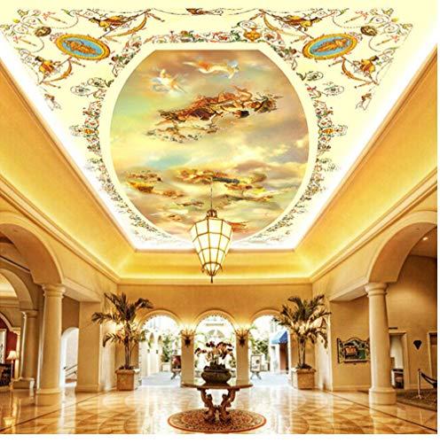 Muurschildering Moderne Europese religieuze overtuiging engel muurschildering gebruikergedefinieerd plafond behang kerken instelling kamer wanddecoratie behang aan de muur muurschildering 280 x 200 cm.