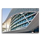 CALVENDO Premium Textil-Leinwand 75 x 50 cm Quer-Format Modernes Gebäude an der Formel 1 - Rennstrecke, Leinwanddruck von Pia Thauwald