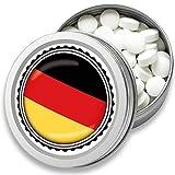 FAN Mint   3er Set Pfefferminz Bonbons mit Deutschland Flagge   Geschenk, Souvenir Deutschland Fahne   Bonbon-Dose, Fan-Artikel, Party Deko (Deutschland)