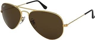 dec0b09af0 Ray-Ban Aviator 3025 RB 3025 001/57 62mm Gold Frame Brown Polarized