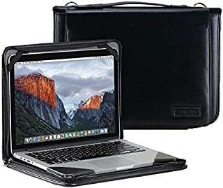 """Broonel Zwart lederen laptop Hoes - compatibel met Lenovo ThinkPad T14s 14"""" Laptop"""