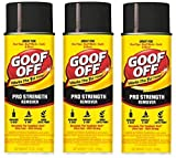 Goof Off FG658 Professional Strength Remover, Aerosol 12-Ounce (Thrее Рack)