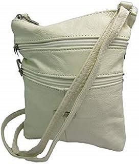 Loz Lorenz Ladies Leather Shoulder Bag (Winter White)