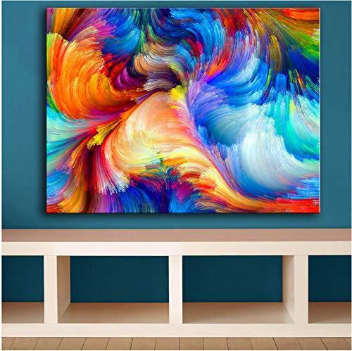 boboyz canvas grootte regenboog de kleur onscherp patroon muurschildering voor wooncultuur ideeën druk op canvas olieverfschilderij geen lijst