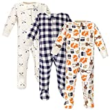 Hudson Baby Unisex Baby Cotton Sleep and Play, Forest, 3-6 Months