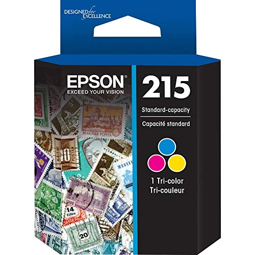 EPSON T215 Ink Standard Capacity Tricolor Cartridge (T215530-S) for select Epson WorkForce Printers