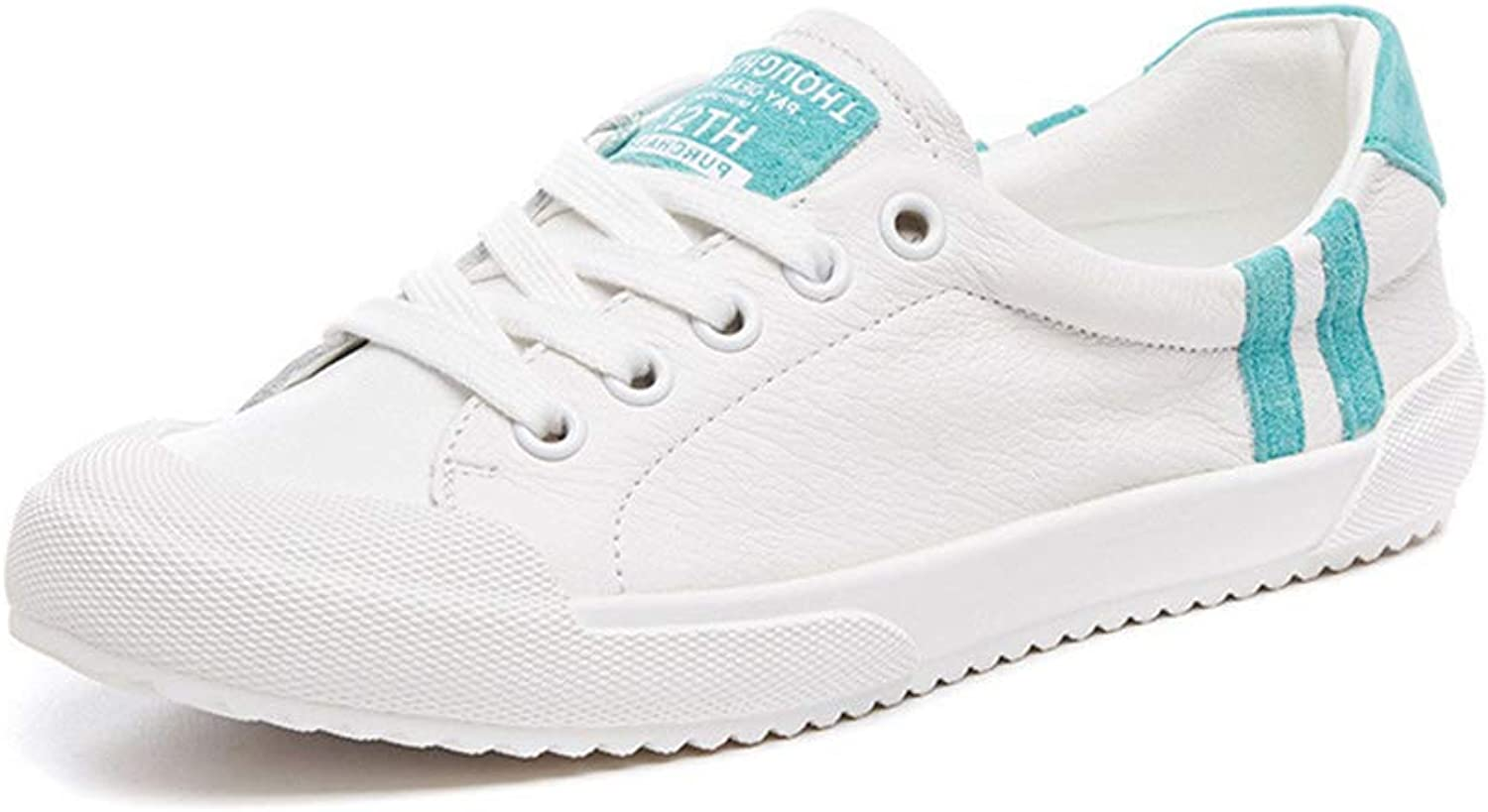 Women's Deck shoes Sports shoes Leather Low-Top Casual shoes Spring Fall Outdoor Lace Up Walking shoes,A,35