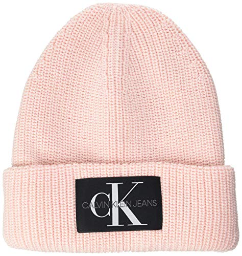Calvin Klein Damen Beanie WL Hut, Rosa (Crystal Pink), Einheitsgröße