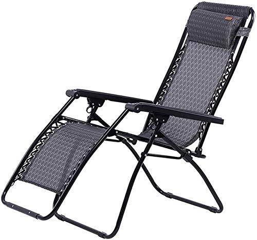 Silla Gravedad Cero, FGVDJ Sol de sol ligero tumbonas Sillas de jardín plegables, sillón de cero, silla de gravedad, tumbona y reclinación reclinable con almohada de cabeza, para patio, invernadero, s
