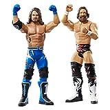 Wwe Coffret 2 Figurines Articulées Daniel Bryan & Aj Styles de 17Cm en Tenue de Combat, Jouet pour Enfant, Gbn65