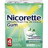 Nicorette Nicotene Gum Spearmint Flavor Coated 4 mg Stop Smoking Aid, 100 Count