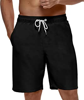 "SILKWORLD Mens 9"" Board Shorts Swim Trunks Long Athletic Swimwear with Pockets"