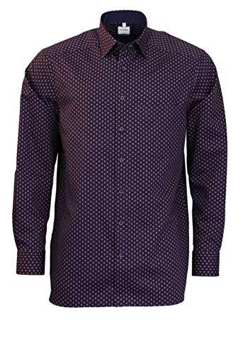 Olymp Luxor Comfort fit Hemd Langarm mit Besatz Muster rot Größe 43