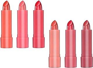 B Baosity 6色 口紅 保湿 マット リップグロス メイクアップ お化粧 プレゼント 2タイプ選べ - A