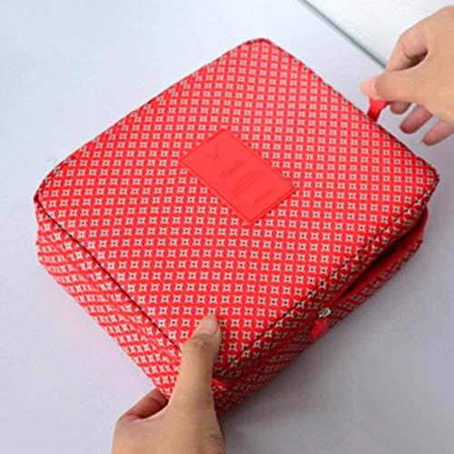 JNML Mesdames Sac cosmétique Sac de Rangement de Voyage Portable Oxford Sac à Main en Tissu Imperméable à l'eau Multi-Fonction Maquillage Wash Wash Kit, 15