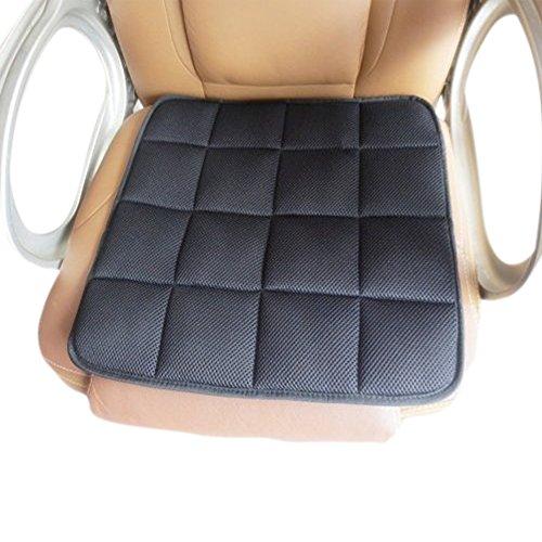 EQLEF Auto Sitzkissen,Natürliche Bambus-Kohle-Polster Bürostuhl Kissen Auto Sitzkissen Anti-Skid Kissen - Schwarz
